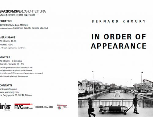 BERNARD KHOURY. IN ORDER OF APPEARANCE